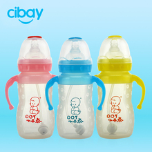Different sizes of hot selling nice silicone feeding bottle/nursing bottle/baby's