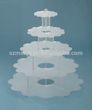 Hot selling top quality plexiglass / acrylic cake display stand
