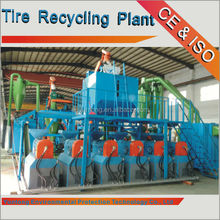 Famous brand Yuntong New design usd rubber and tires recycling rubber granules making plant Old rubber resuing equipement