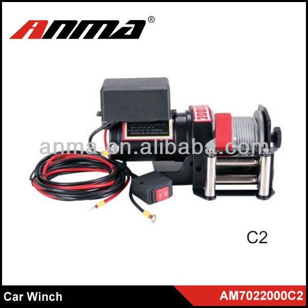 ANMA New 2000lps portable electric car Winch/paraglider winch/12V DC/24V DC