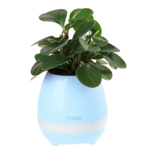 2017 Multifunctional Rechargeable LED Lighted Planter Pots Bluetooth Speaker Smart Music Pot