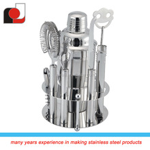2015 new arrival 8pcs stainless steel bar set with gift box/stainless steel cocktail shaker/barware