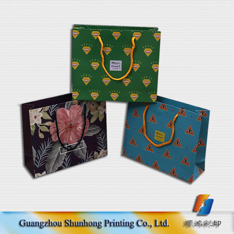 Make Your Own Design Cheap Paper Shopping Bags with Handles Bulk Sale