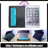 Candy color flip leather case cover double folding stand holder tablet case