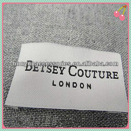 2014 Fashion Lady Garment Custom Woven Patch Label