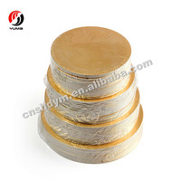 Gold Round Square Cardboard Cake Tray