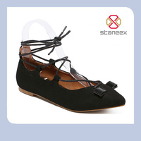 Wholesale Spring/Autumn Lady/Ladies Sweet Sex Cheap Nice Casual Girls Couture Flat/Plain Laser Cut Cross Strap Women Shoes