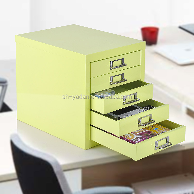 movable small colorful cabinet metal five drawer filing cabinet Mini Home Cabinet
