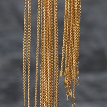 Hip hop jewelry 3mm small size miami cuban link chain, 18k gold filled chain
