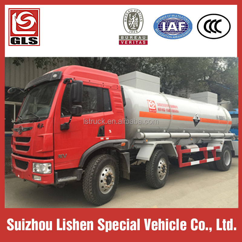 6X2 FAW 13100 liters Chemical Liquid Transport Tanker truck for hyudrochloric acid