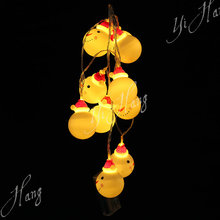 10 warm white led flamingo string lights ornament battery operated light christmas decoration snowman lights string