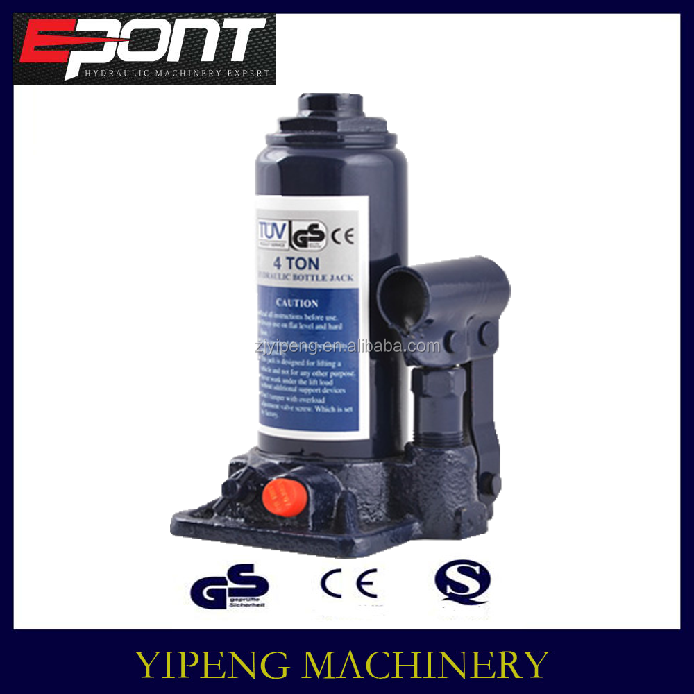 CE&GS approved 4T portable car repair tool hydraulic bottle jack with safety valve