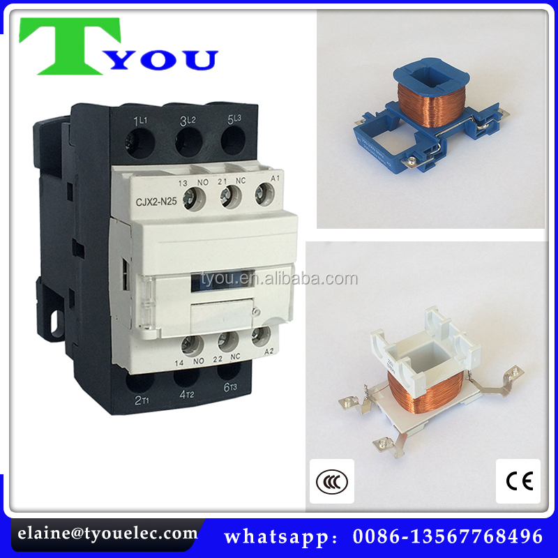 NEW TYPE types of ac magnetic contactor Copper coil LC1-N series DC/AC telemecanique contactor