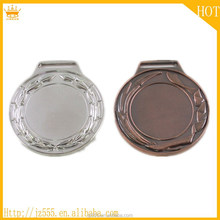 Whole sale good quality Wheat silver Zinc alloy medal