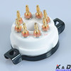 8 Pin EL38 6550 KT88 CMC Ceramic Gold Tube Socket
