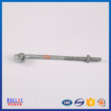Hot dip galvanized stay rod with thimble clevis/OPGW cable