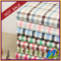 High quality 100% cotton 40*40 yarn dye Plaid shirt fabric for designing clothes