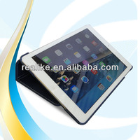 Alibaba assessed supplier stand folio pu leather bulk case for Apple iPad Air 5 pen clip