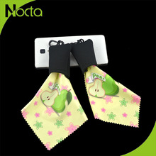 Customized best portable 4 colors microfiber cleaning cloth with pouch