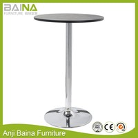 MDF wood round table top lifting table for sale cheap bar table sets