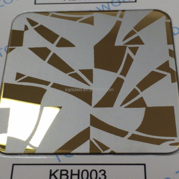 High Quality 304 Stainless Steel Color KBH003 Hairline Sheet