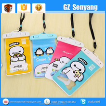 China Supplier Cartoon PVC With Neck Strap Waterproof Bag