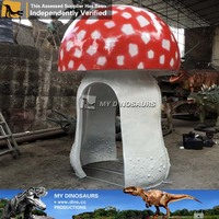 My-dino large decorative rubber mushrooms