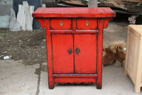 Antique Bedroom Set Second hand Furniture Small Red Cabinet