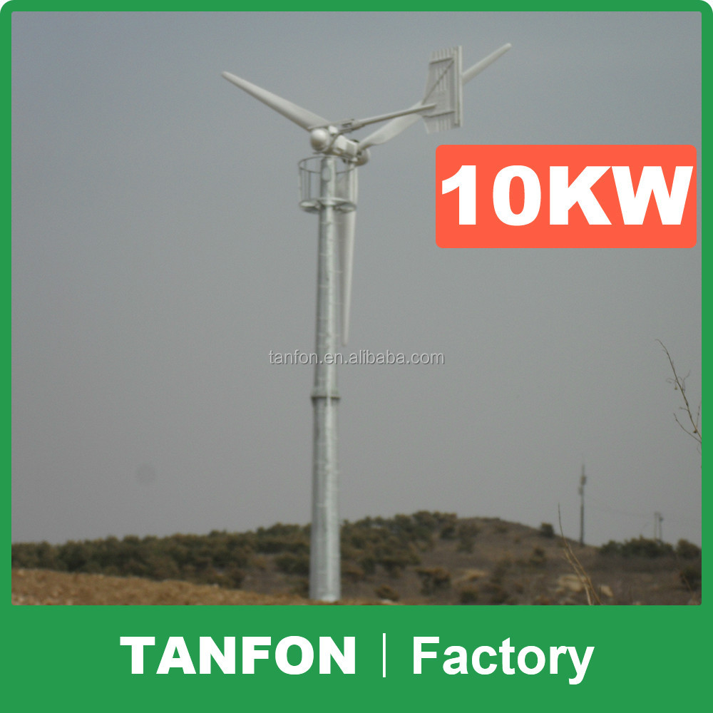 Foshan factory direct supply Wind Turbine Types Commercial / Residential Wind Generators 10kw vertical wind turbine