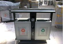 Big capacity durable stainless steel advertising trash can