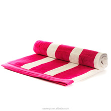 Hot Pink and White Stripe Egyptian Cotton Bath Towel BtT-017 China Factory