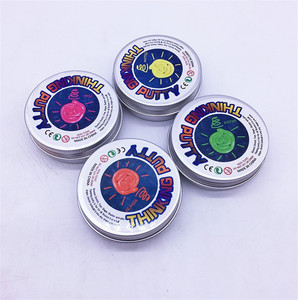 Thinking Putty Luminous Bouncing Playdough Small Tin Box Super Illusions Gifts Glow in The Dark MK1101
