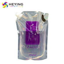 wholesale plastic side gusset clear spout pouch for liquid packaging