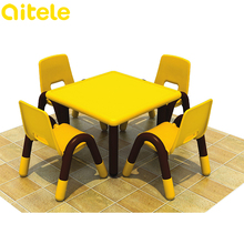 2017 cheap children plastic tables and chairs