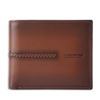 Classical style wallets genuine leather old fashion wallet for gentle man