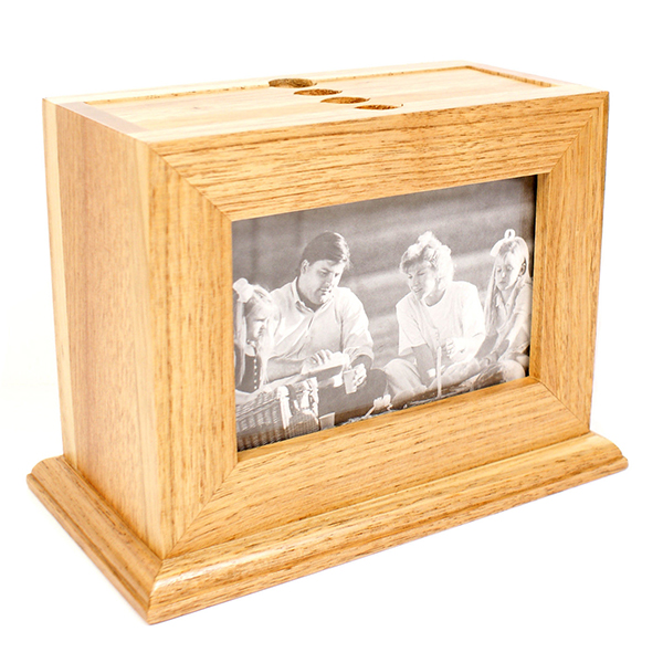 Shabby Rustic Wooden Picture Frame Box with Pull out Album