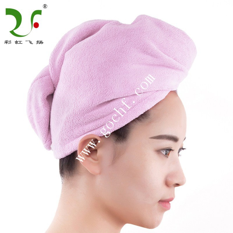 Microfibre /100% cotton bath cap solid colour