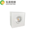 lepu new dimmable gyro square led cob surface downlight 9w convenient to install just 5 seconds warm white