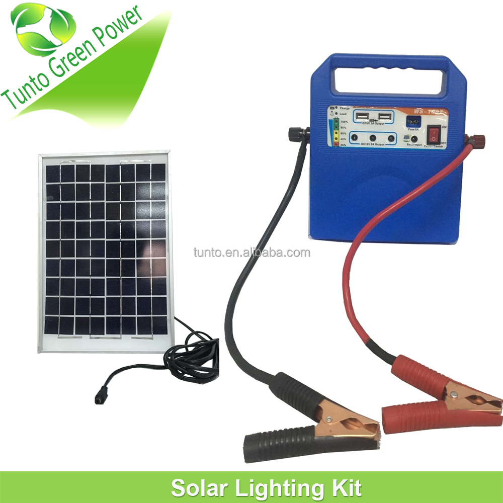 2016 10w solar panel kit with multi functions