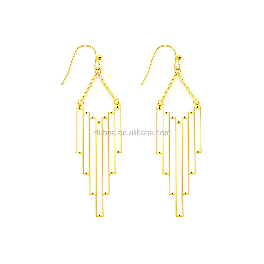 Hollow Abstract Dangle Earrings Statement Party Jewelry