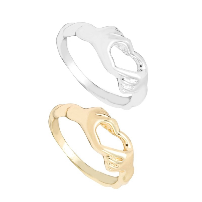 2016 fashion design simple heart model 925 silver gold changing color mood ring jewelry silver ring blanks wedding penis