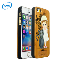Best Selling 3D embossed Wood Mobile Phone Case,Wooden Shell For Iphone,Mobile Phone Accessories