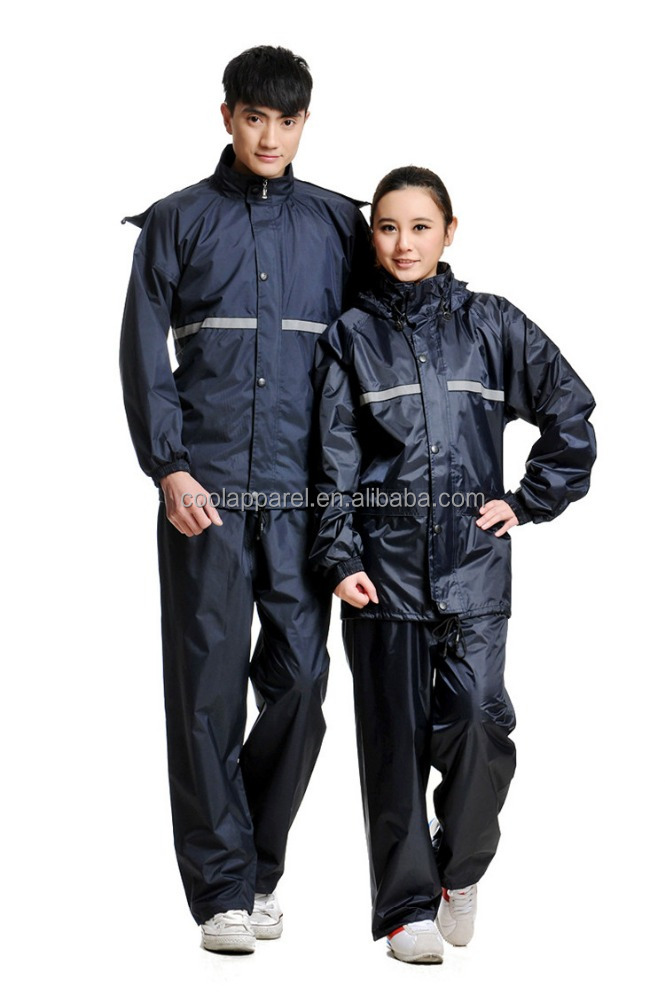 pvc raincoat plain men black adult rainwear with pants