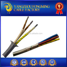 304 stainless steel wire or tinned copper wire high temperature 3 core shield wire shield cable