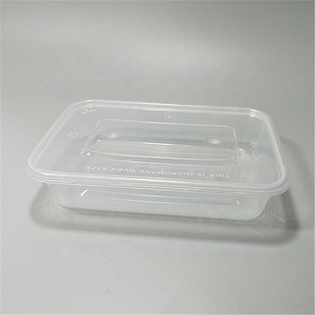 500 ml Square Box transparent plastic packaging fast food Box