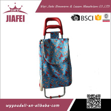 daily use product new 600D oxford cloth with two eva wheels shopping trolley price