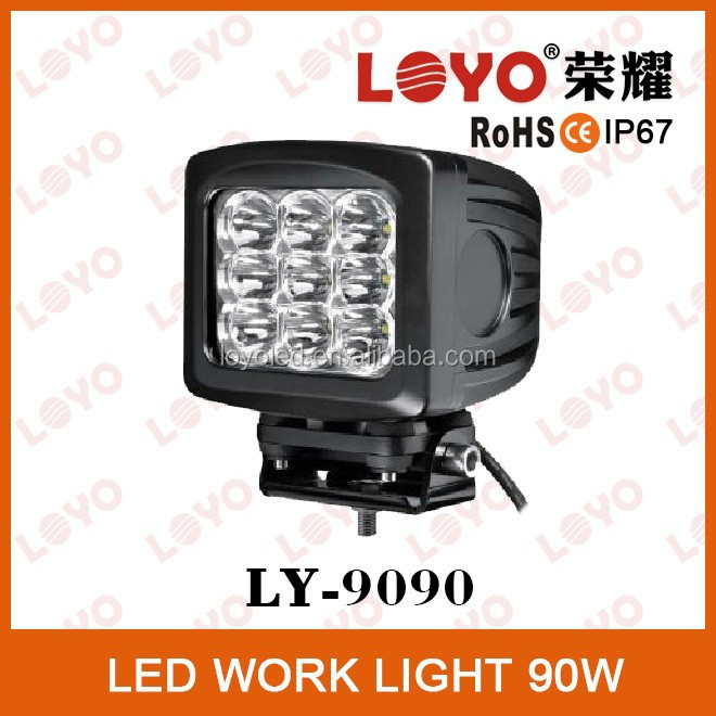 Hot sale flood/spot beam 8100lm C. R. E . E. led driving light for truck, atv 4x4 car accessories 90w led tractor working light