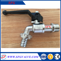 Shengfeng brand brass bibcock with zinc alloy handle single cold water tap polo bibcock