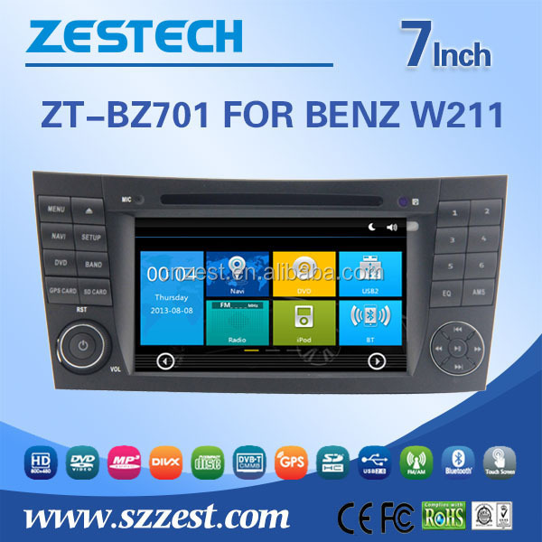 fiat stilo car radio player gps navigation For BENZ W211 car gps with auto radio Bluetooth SD USB Radio wifi 3G