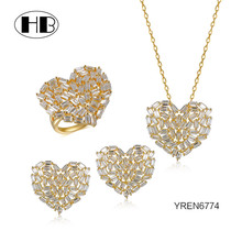 YREN6774 Jewelry Supply Dubai Gold Jewelry Set, Silver Jewelry Party